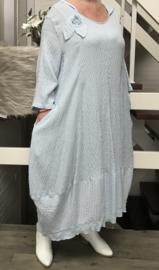 SINNE design.. A- lijn katoen/viscose jurk