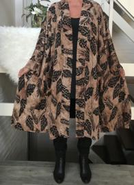 Mabel oversized A-lijn jersey blazer/jas  (extra groot)  apart