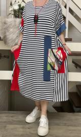 Zedd Plus strepen jurk met ketting