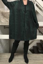 ITALIA jersey viscose A-lijn blazer stretch