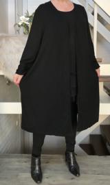 ITALY jersey viscose vest ( extra groot) zwart