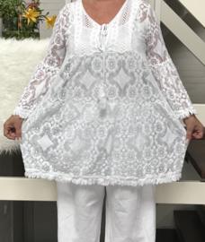ITALIA  kanten tuniek/jurk + top/in meerdere kleuren