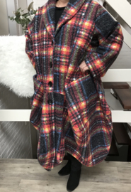 Moonshine oversized gevoerde A-lijn mantel/ jas (extra groot) wol/viscose