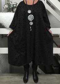 Clarice oversized A-lijn viscose  jersey jurk apart (extra groot)stretch