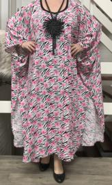 Kirsten luchtige viscose oversized  jurk/poncho/wrap apart   (extra groot)