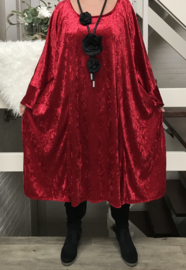 Alexa oversized A-lijn velours stretch jurk (extra groot)