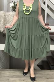 ITALIA MODE viscose  A-lijn jurk (extra groot) stretch
