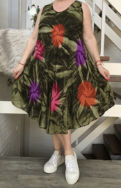 Claudia viscose asymmetrisch A-lijn jurk/in meerdere kleuren