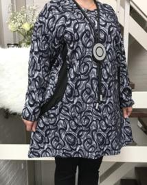 Naveed  jersey A-lijn  jurk/tuniek (extra groot) donkerblauw