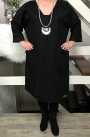 IVY  oversized jersey A-lijn  jurk/tuniek zwart