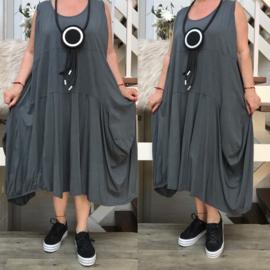 Moonshine katoen jersey asymmetrisch A-lijn jurk apart/in meerdere kleuren