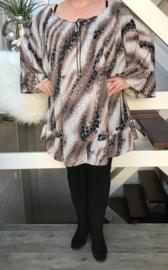 Nathalie oversized A-lijn jersey jurk/tuniek apart (extra groot)