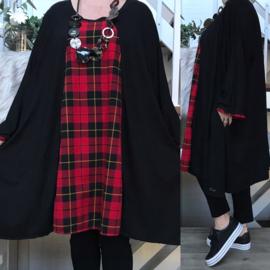 Stella oversized A-lijn viscose  jersey tuniek met zakken apart (extra groot)stretch