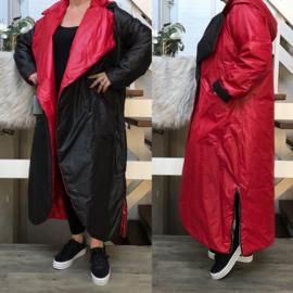 SINNE design.. A-lijn dubbelzijdig waterbestendig gewatteerde winter jas