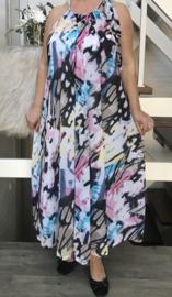 Juliet oversized A-lijn zomer chiffon jurk met zakken  (extra groot)