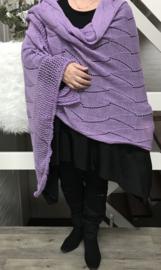 Moonshine  gebreid superzacht sjaal/poncho /in meerdere kleuren