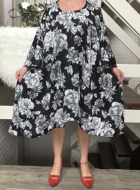 Alice   oversized A-lijn jersey jurk/tuniek apart (extra groot)