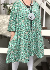 Gertrude oversized A-lijn jersey tuniek/jurk met zakken apart (extra groot)