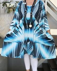 Marlene oversized A-lijn jersey tuniek/jurk met zakken apart (extra groot)