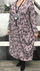 ITALIA  jersey viscose A-lijn jurk/in meerdere kleuren