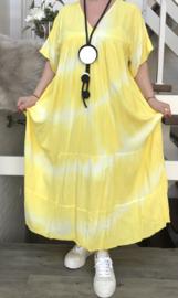 ITALIA de modieuze kleuring viscose  A-lijn jurk/in meerdere kleuren