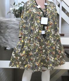 Marielle oversized A-lijn crepe tuniek/jurk met zakken apart (extra groot)
