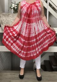 Maja  viscose geverfde asymmetrisch A-lijn jurk