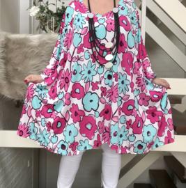 Ivy  oversized A-lijn tuniek/jurk met zakken apart (extra groot) stretch