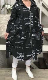 ITALIA  katoen A-lijn blazer zwart/wit
