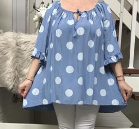 ITALIA oversized viscose blouse