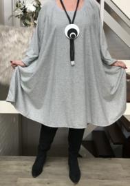 Lisha oversized A-lijn jersey jurk met zakken apart (extra groot)