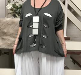Moonshine oversized  katoen tricot top apart /in meerdere kleuren