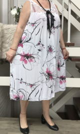 ITALIA viscose A-lijn jurk (extra groot)/in meerdere kleuren