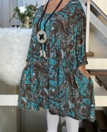 Evelyn oversized A-lijn jersey tuniek/jurk met zakken apart (extra groot)