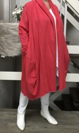 LF ITALIA  oversized joggingstof katoen jersey blazer