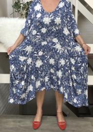 New Jersey tricot viscose A-lijn  jurk apart (extra groot)