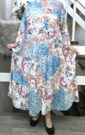 ITALIA IBIZA viscose  A-lijn jurk/in meerdere kleuren