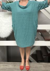 ITALIA katoen jurk met knopsluiting achter /in meerdere kleuren
