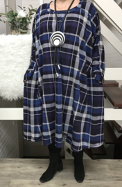 Nancy oversized A-lijn jersey jurk  apart (extra groot)