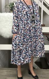 Emma oversized A-lijn jersey jurk met zakken apart (extra groot)
