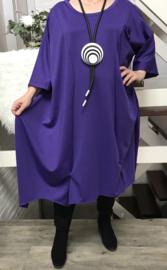 Franka oversized A-lijn jersey jurk apart (extra groot)