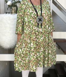 Carol oversized A-lijn jersey tuniek/jurk met zakken apart (extra groot)