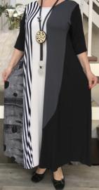 Naveed jersey A-lijn jurk apart