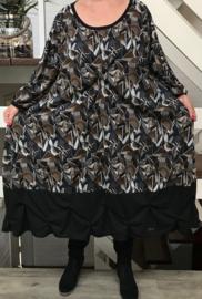 Hannah oversized A-lijn jersey jurk apart (extra groot)
