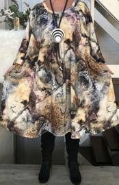 Amelia oversized  A-lijn jersey jurk apart (extra groot) stretch
