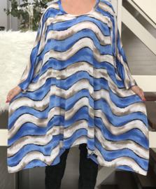 Tanja oversized A-lijn jersey jurk/tuniek apart (extra groot)