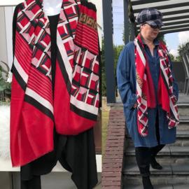ITALIA zachte viscose/ katoen sjaal
