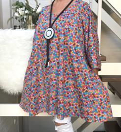 Frances oversized A-lijn katoen jersey tuniek met zakken apart (extra groot)