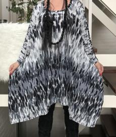 Mathilda oversized A-lijn jersey jurk/tuniek apart (extra groot)