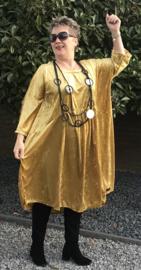 Harriet oversized A-lijn velours stretch jurk (extra groot)